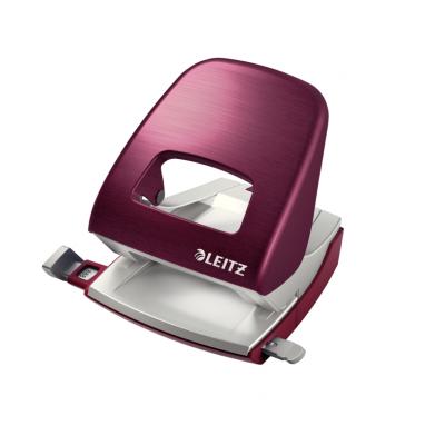 Dziurkacz duży metalowy Leitz Style, ciemnoczerwony, 30 kartek kod: 50060028