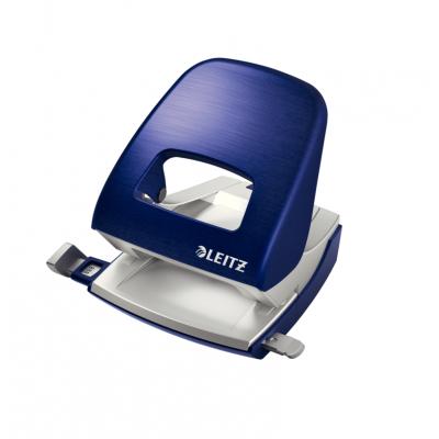 Dziurkacz duży metalowy Leitz Style, niebieski, 30 kartek kod: 50060069
