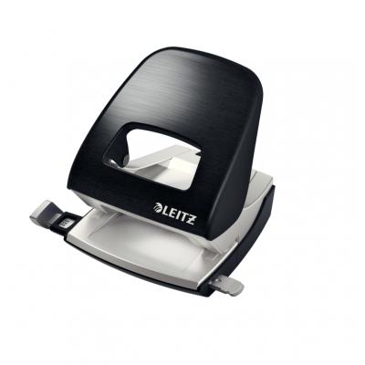 Dziurkacz duży metalowy Leitz Style, czarny, 30 kartek kod: 50060094