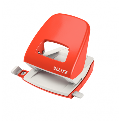 Dziurkacz duży metalowy Leitz, czerwony, 30 kartek kod: 50080025