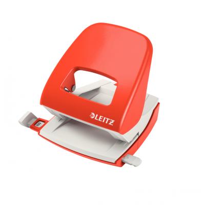Dziurkacz duży metalowy Leitz, jasnoczerwony, 30 kartek kod: 50080020