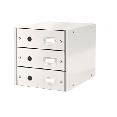 Pojemnik z 3 szufladami Leitz C&S, biały (60480001)