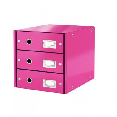 Pojemnik z 3 szufladami Leitz C&S WOW, różowy (60480023)