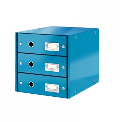 Pojemnik z 3 szufladami Leitz C&S WOW, niebieski (60480036)
