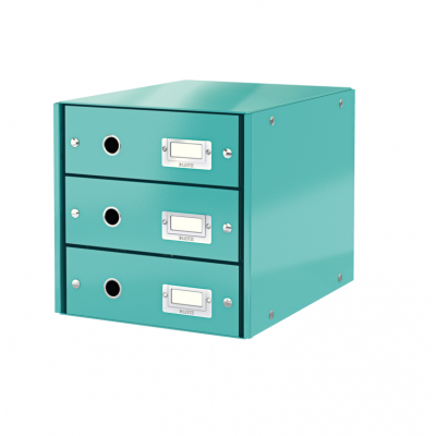 Pojemnik z 3 szufladami Leitz C&S WOW, turkusowy (60480051)