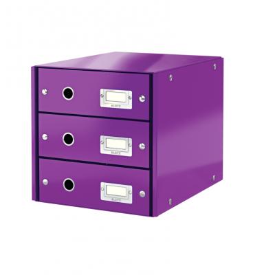 Pojemnik z 3 szufladami Leitz C&S WOW, fioletowy (60480062)