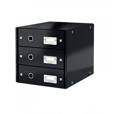 Pojemnik z 3 szufladami Leitz C&S, czarny (60480095)