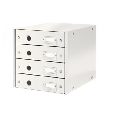 Pojemnik z 4 szufladami Leitz C&S, biały (60490001)