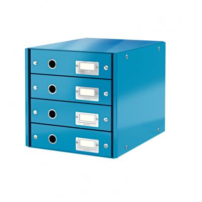 Pojemnik z 4 szufladami Leitz C&S WOW, niebieski (60490036)