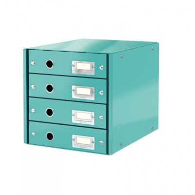 Pojemnik z 4 szufladami Leitz C&S WOW, turkusowy (60490051)