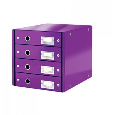 Pojemnik z 4 szufladami Leitz C&S WOW, fioletowy (60490062)