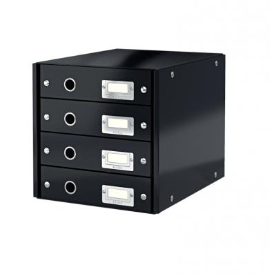 Pojemnik z 4 szufladami Leitz C&S, czarny (60490095)
