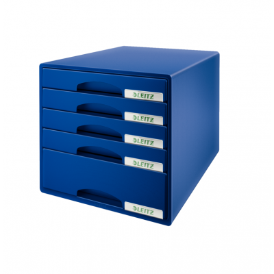 Pojemnik z 5 szufladami Leitz PLUS, niebieski (52110035)