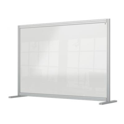 Przegroda na biurko Nobo Premium Plus wykonana z przezroczystego akrylu 1400x1000mm kod: 1915490