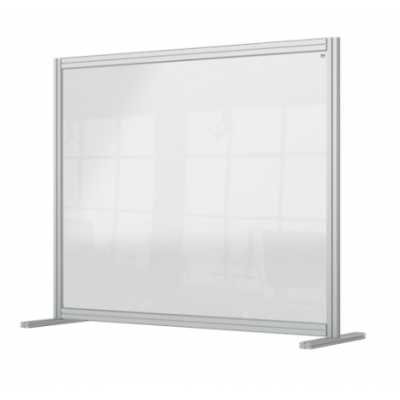Przegroda na biurko Nobo Premium Plus wykonana z przezroczystego akrylu 1200 x 1000 mm kod: 1915491