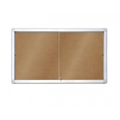 Gablota 2x3 korkowa z przesuwanymi drzwiami kod: GK118A4PD